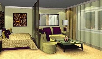Совмещение спальни и гостинной