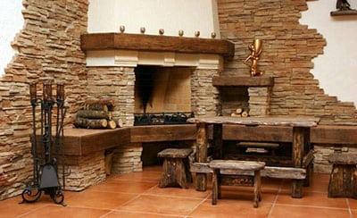 Внутренняя отделка искусственным декоративным камнем своими руками