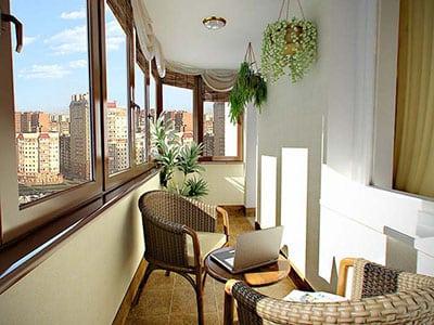 Работа над балконом