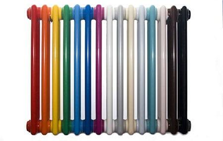 Окраска эмалями батарей и труб