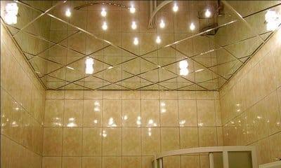Как обустроить зеркальный потолок
